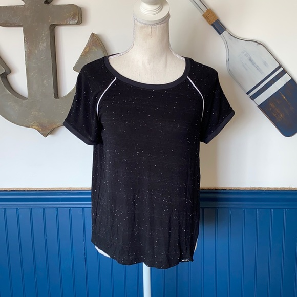 Koral Black shirt with white specks - XS